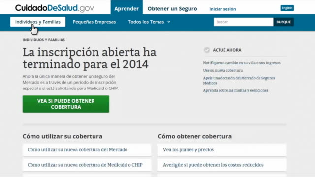 computer screen video of spanish language online application process of the affordable care act showing the open enrollment period is closed - sports period stock videos & royalty-free footage