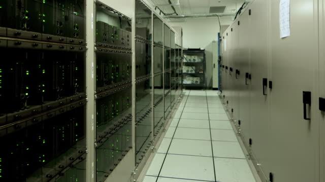 ws, pan a computer server room at alma observatory (alma correlator) / san pedro de atacama, chile - atacama large millimeter array stock videos and b-roll footage