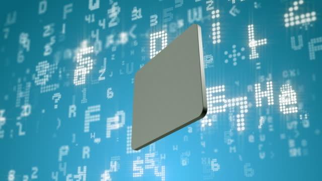 vidéos et rushes de technologie informatique et affichage tournant - écran de projection