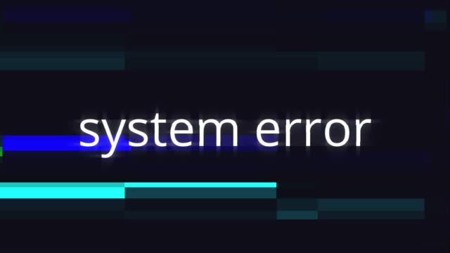 vidéos et rushes de avertissement informatique d'erreur du système dans un concept graphique - pixellisation