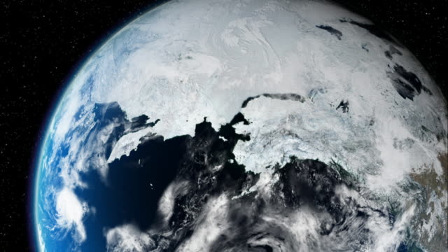 a computer-generated image depicts a snow-covered earth. - frozen stock videos & royalty-free footage