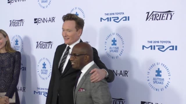 conan o'brien and al roker at the autism speaks to los angeles celebrity chef gala at barker hangar on october 08, 2015 in los angeles, california. - al roker stock videos & royalty-free footage