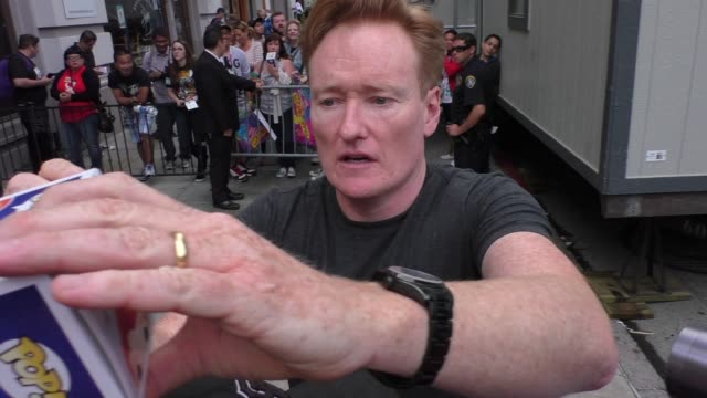 conan o'brien at comiccon celebrity sightings on july 09 2015 in san diego california - conan o'brien stock videos and b-roll footage