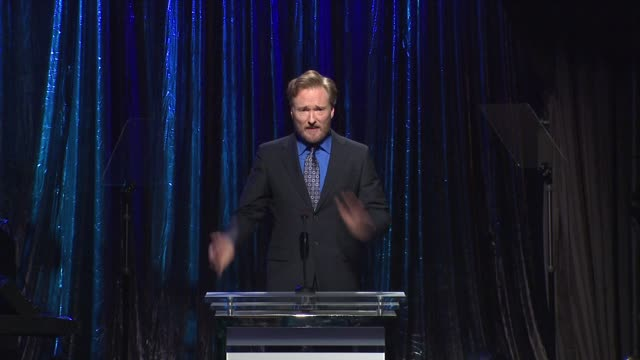 conan o'brien at the 14th annual unforgettable evening benefiting the entertainment industry foundation's women's cancer research fund at beverly... - conan o'brien stock videos and b-roll footage