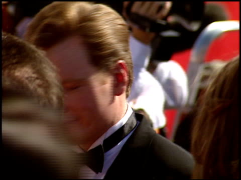 conan o'brien at the 1998 emmy awards entrances at the shrine auditorium in los angeles california on september 13 1998 - conan o'brien stock videos and b-roll footage