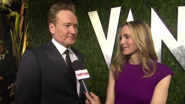 interview conan o'brien at the 2013 vanity fair oscar party hosted by graydon carter interview conan o'brien at the 2013 vanity fair at sunset tower... - conan o'brien stock videos and b-roll footage