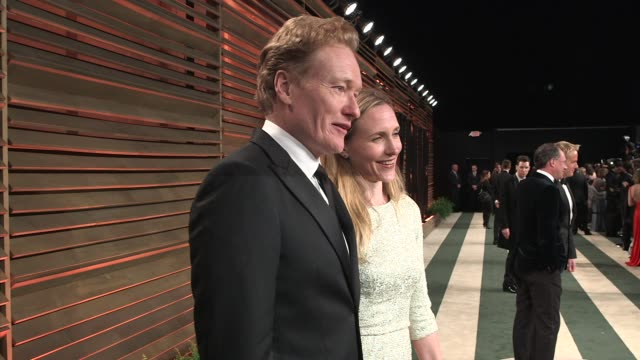 conan o'brien at the 2014 vanity fair oscar party hosted by graydon carter - arrivals on march 02, 2014 in west hollywood, california. - oscar party stock videos & royalty-free footage