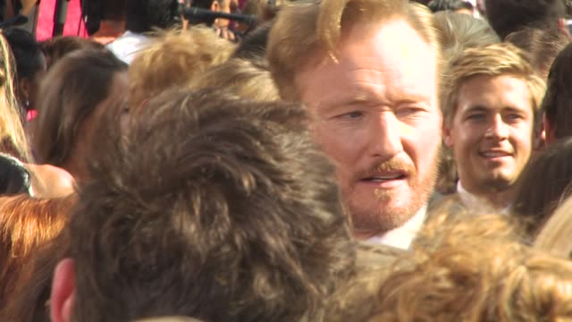 conan o'brien at the 62nd primetime emmy awards arrivals part 3 at los angeles ca - conan o'brien stock videos and b-roll footage