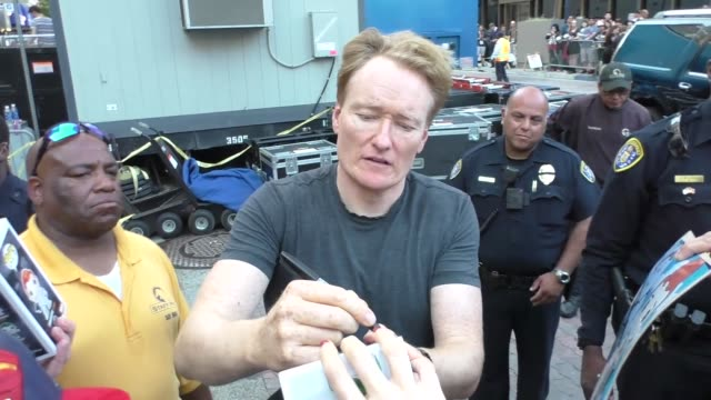 interview conan o'brien on why superheroes wear tights at san diego comiccon international at celebrity sightings at comiccon on july 23 2016 in san... - conan o'brien stock videos and b-roll footage