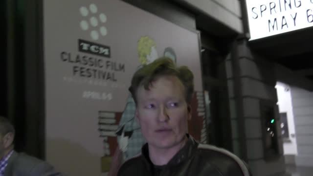 interview conan o'brien talks about what happened to the year 2000 leaving katsuya restaurant in hollywood in celebrity sightings in los angeles - conan o'brien stock videos and b-roll footage