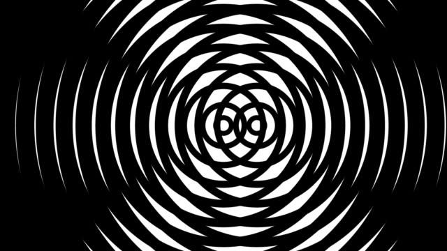 concentric circles looping background (hd) - illusion stock videos & royalty-free footage