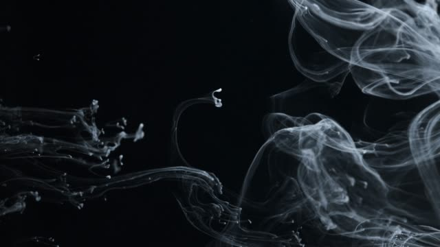 concept art white paint in water as smoke in slowmotion - fantasy stock videos & royalty-free footage