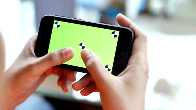 concept chatting on green screen smartphone - chasing stock videos & royalty-free footage