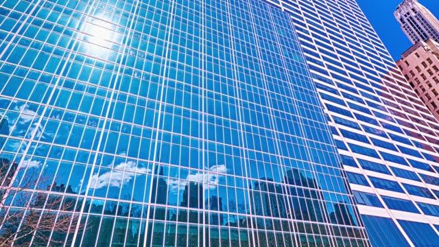 stockvideo's en b-roll-footage met concept. financiële gebouw. hemel en zon reflaction. - school building