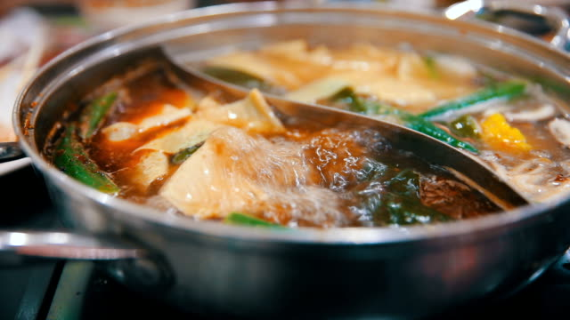 concept hotpot asian cuisine - chinese culture stock videos & royalty-free footage