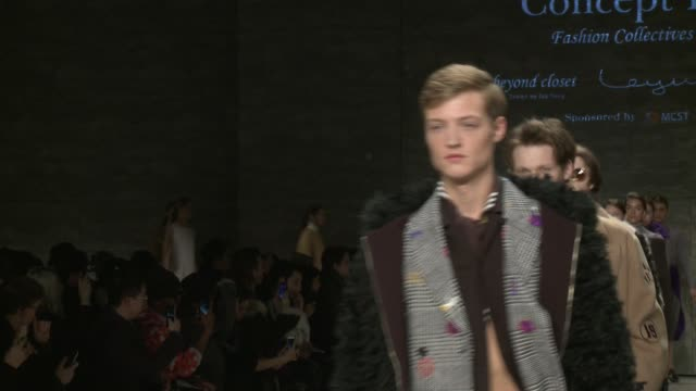 clean concept korea fall 2015 mercedesbenz fashion week at the pavilion at lincoln center on february 13 2015 in new york city - pavilion video stock e b–roll
