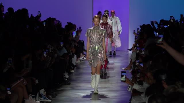 concept korea - runway - september 2019 nyfw at gallery i at spring studios on september 06, 2019 in new york city. - ニューヨークファッションウィーク点の映像素材/bロール