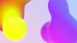 Concept of Beautiful Organic View Cgi Animations Mixing Colourful Backdrop