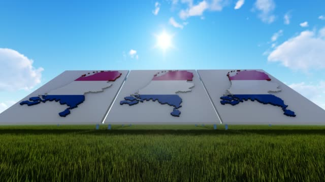 3d concept of netherland maps background - flag stock videos & royalty-free footage