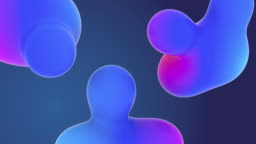 Concept of Organic New Sci-fi Stylish Gradient Animations Cgi Render