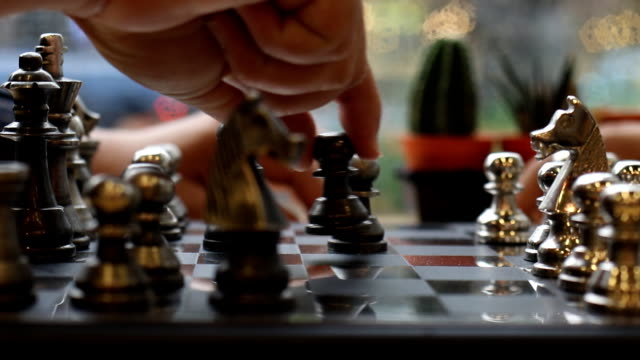 concept of playing silver chess