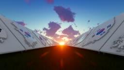 3D Concept Of South Korea Maps Background