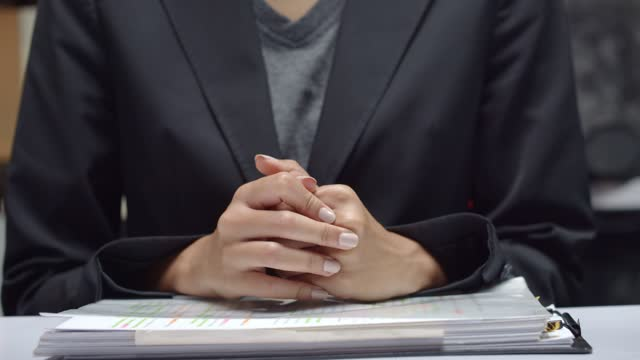 concept of waiting nervously for job interview online video conference - anxiety stock videos & royalty-free footage