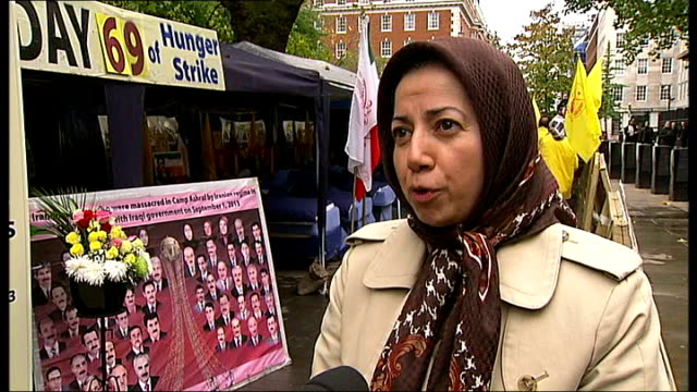 concern for hunger strikers outside american embassy england london grosvernor square ext various of hunger strike protesters lying on camp beds in... - banner stock videos & royalty-free footage