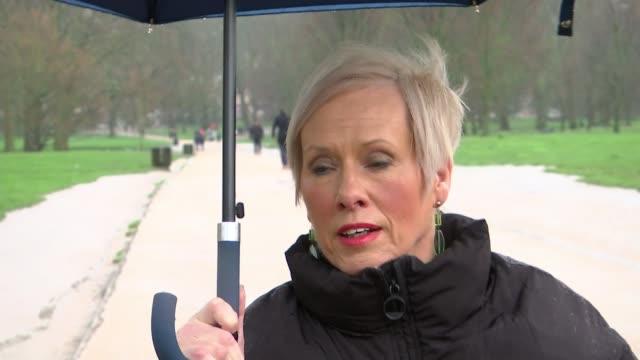 concerns london marathon may not go ahead due to coronavirus england london ext ruth owen interview sot - london marathon stock videos & royalty-free footage
