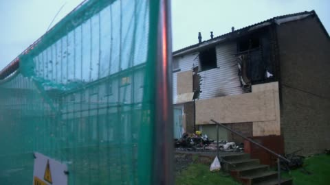 concerns over length of time taken to carry out safety improvements in kitchen appliances; surrey: guildford: ext gv fire damaged house after tumble... - length stock videos & royalty-free footage