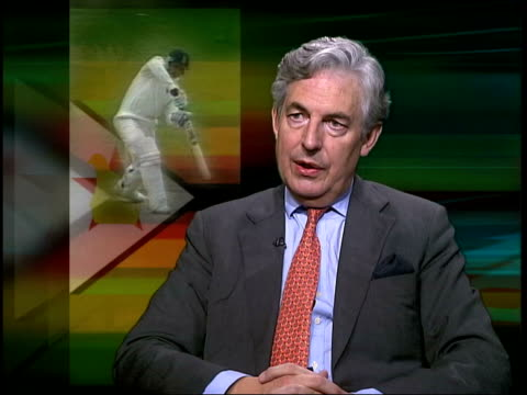 Concerns over Zimbabwe hosting world cup ITN London GIR Geoffrey Van Orden interviewed SOT They're missing point it would be travesty if ICC decide...