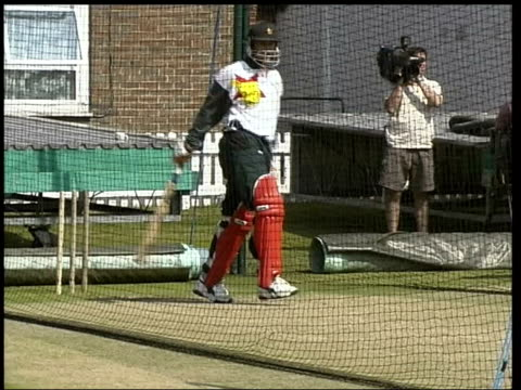 concerns over zimbabwe hosting world cup lib zimbabwe cricket players practising in nets heath streak along phono overlaid sot cricket employs lot of... - phono einzelwort stock-videos und b-roll-filmmaterial