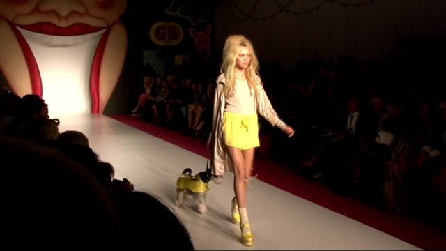 concerns that boom in british car industry may not be sustainable; lib model on catwalk at mulberry spring/summer 2012 fashion show kate moss... - fashion industry stock videos & royalty-free footage