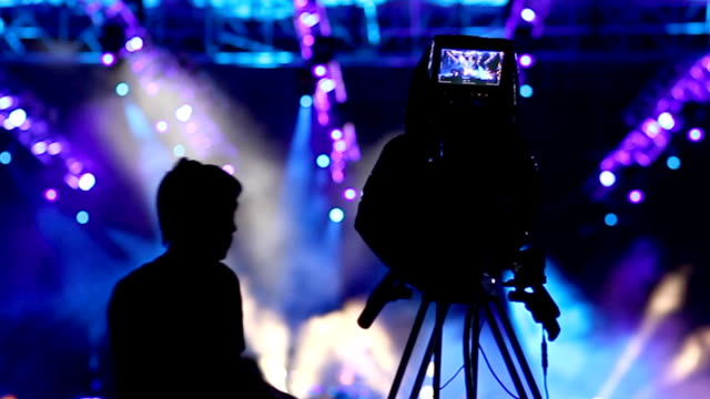 concert cameraman - filming stock videos & royalty-free footage