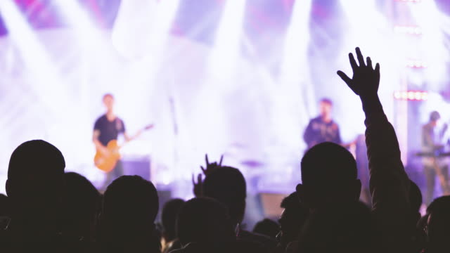 Konzert-Publikum und tanzende Menschen