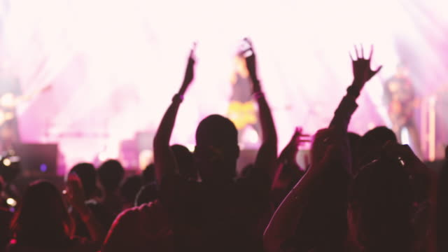 concert crowd and people dancing - pop musician stock videos & royalty-free footage