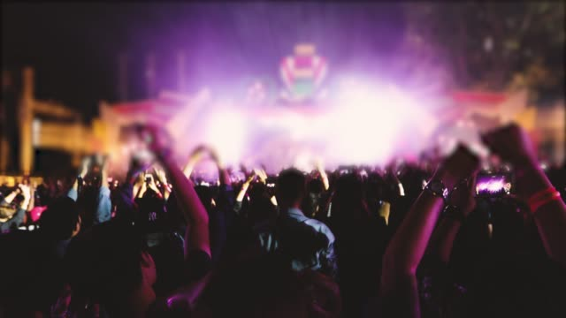 concert crowd and people dancing - spectator stock videos & royalty-free footage
