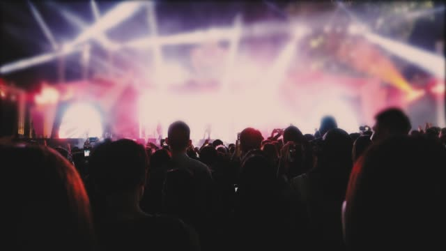 concert crowd and people dancing - music festival stock videos & royalty-free footage