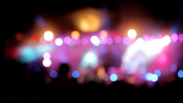 concert crowd at popular music concert - atmosphere filter stock videos and b-roll footage
