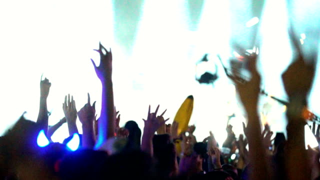 konzert menschenmenge zu feiern. - mob stock-videos und b-roll-filmmaterial