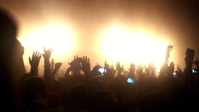 concert crowd, slow motion. - musician stock videos & royalty-free footage