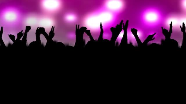 concert crowd - människoarm bildbanksvideor och videomaterial från bakom kulisserna