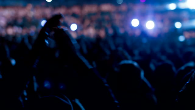 concert crowd - concert stock videos & royalty-free footage