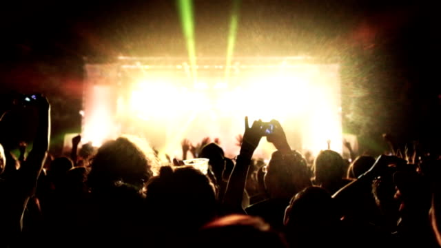 concert crowd - audience stock videos & royalty-free footage