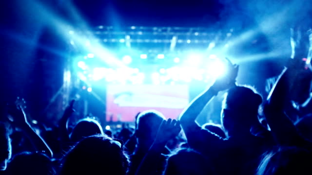 concert crowd - rock stock videos & royalty-free footage