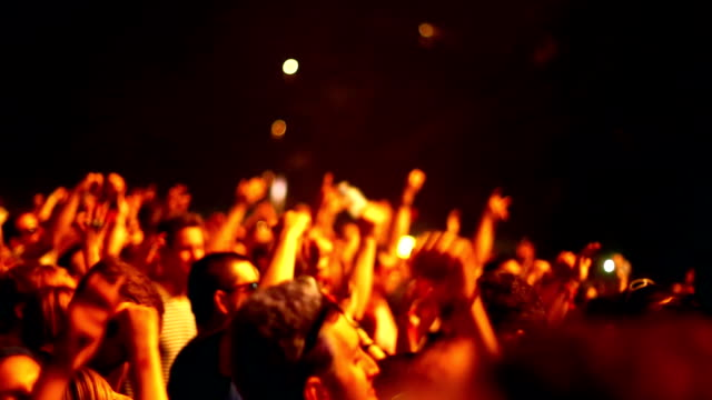 concert crowd. - performing arts event stock videos & royalty-free footage
