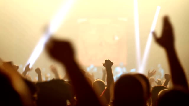 concert crowd - stage performance space stock videos & royalty-free footage