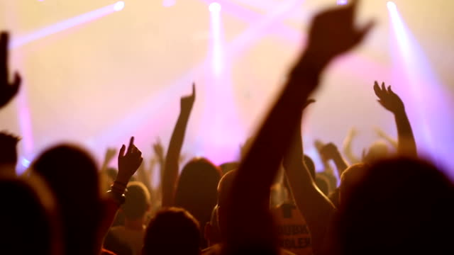 concert crowd - rocking stock videos & royalty-free footage
