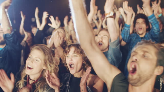 concert crowd - applaudire video stock e b–roll
