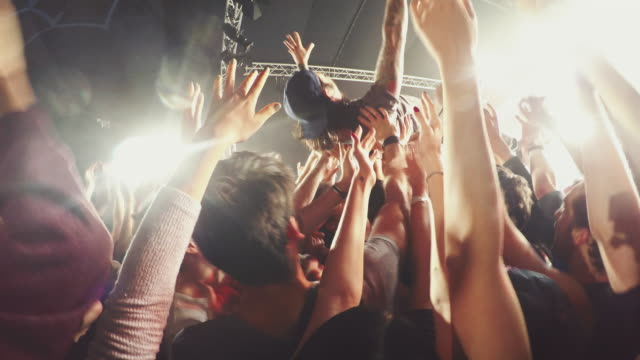 concert crowd - rock musician stock videos & royalty-free footage